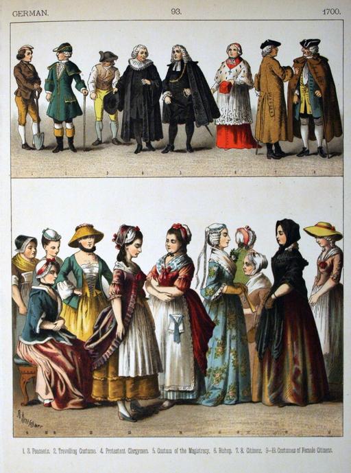 Costumes allemands du dix-huitième siècle