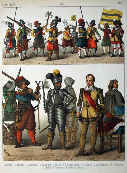 Costumes allemands du dix-septième siècle