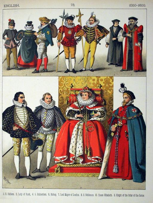 Costumes anglais de la fin du seizième siècle