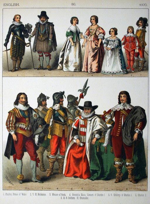 Costumes anglais du dix-septième siècle