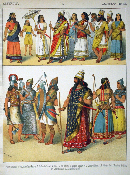 Costumes antiques assyriens