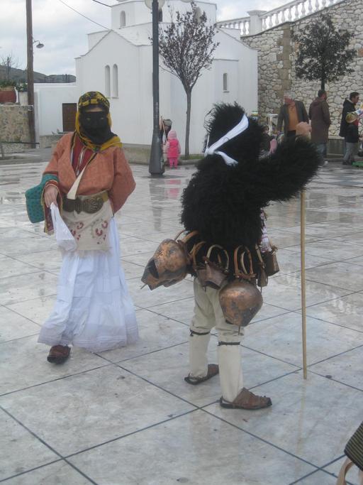 Costumes d'enfants au carnaval de Skyros