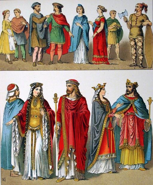 Costumes des francs entre 400 et 600