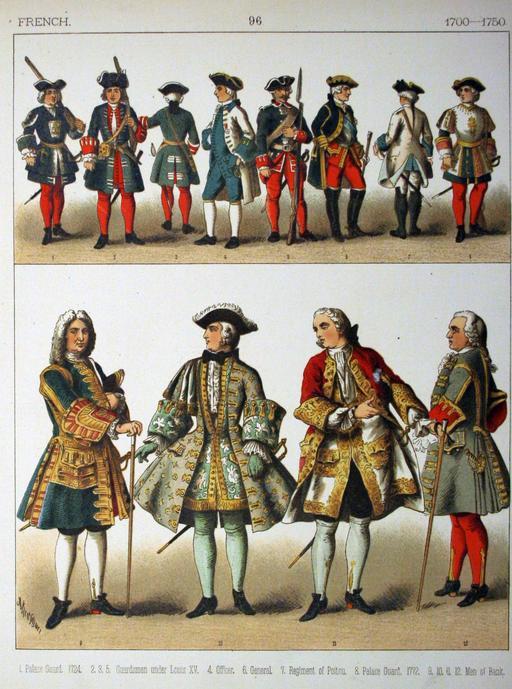 Costumes français du début du dix-huitième siècle