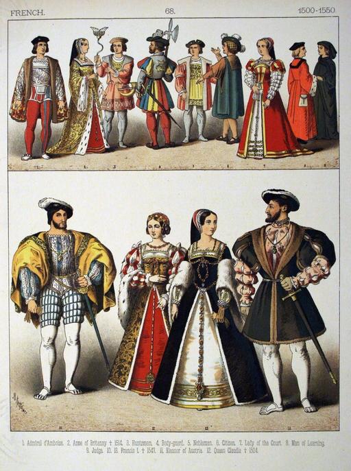 Costumes français du début du Seizième siècle
