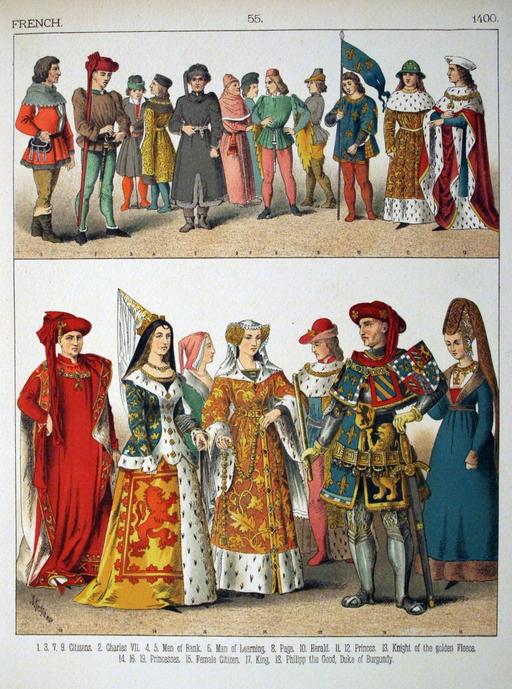 Costumes français du quinzième siècle