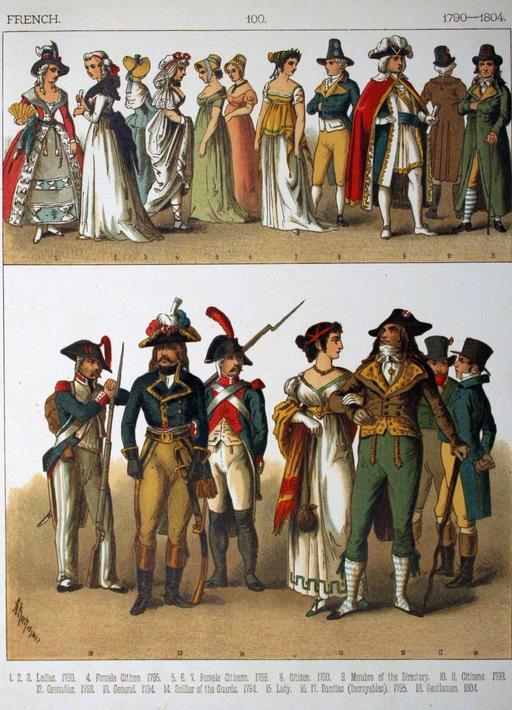 Costumes français sous la révolution
