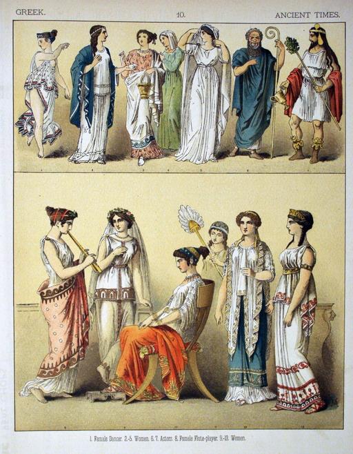 Costumes grecs de l'antiquité