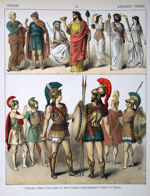 Costumes grecs de l'antiquité