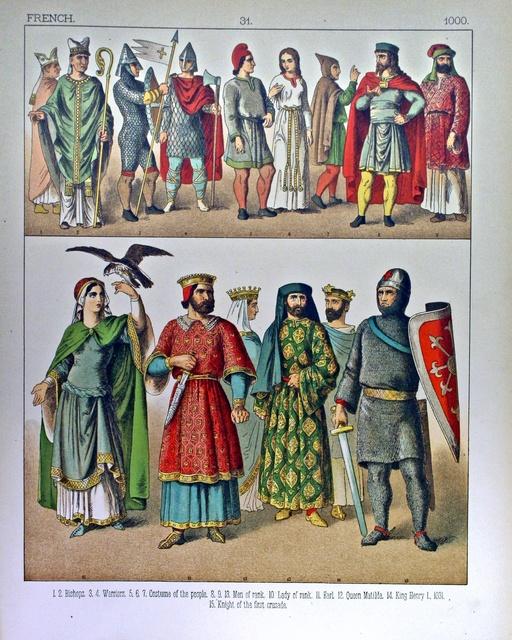 Costumes médiévaux du onzième siècle