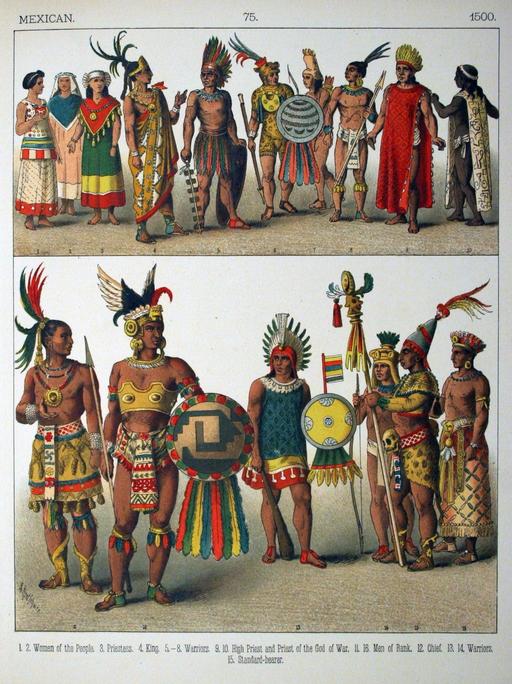 Costumes mexicains du seizième siècle
