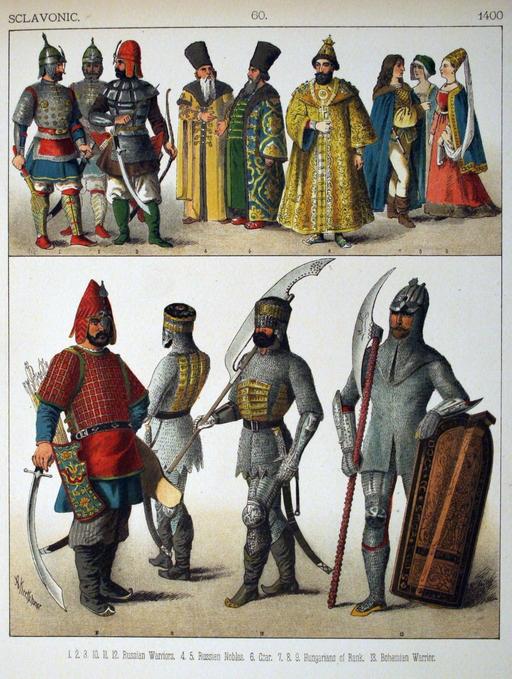 Costumes slaves du quinzième siècle