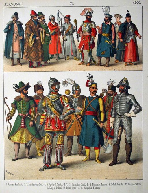Costumes slaves du seizième siècle