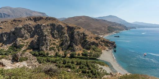 Côte méditerranéenne en Crète