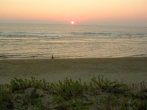 Coucher de soleil à Mimizan dans les Landes