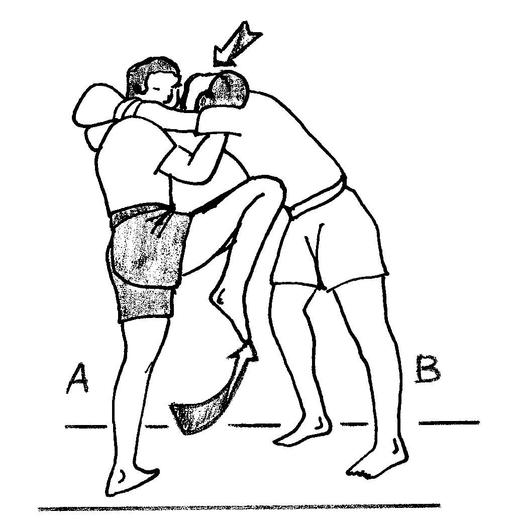 Coup de genou remontant en boxe birmane