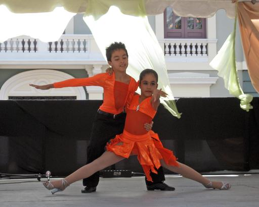 Couple de jeunes danseurs à Porto Rico