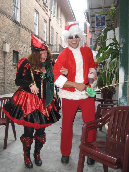 Couple de Noël à la Nouvelle-Orléans