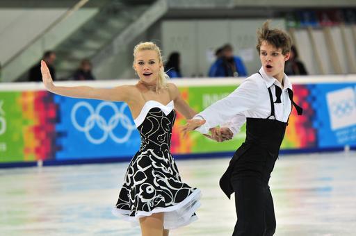 Couple de patineurs tchèques à Innsbruck en 2012