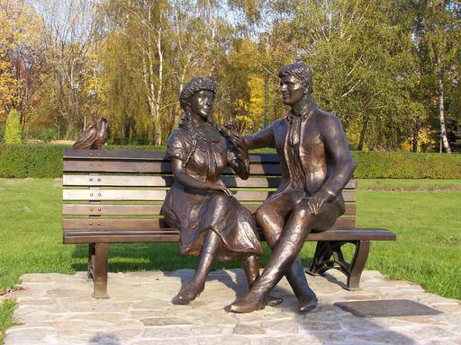 Najromantičnije moderne skulpture u svetu Couple-et-pigeon-sur-un-banc-53160fc9