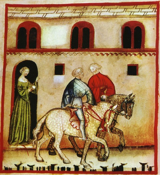 Cours d'équitation au Moyen Age