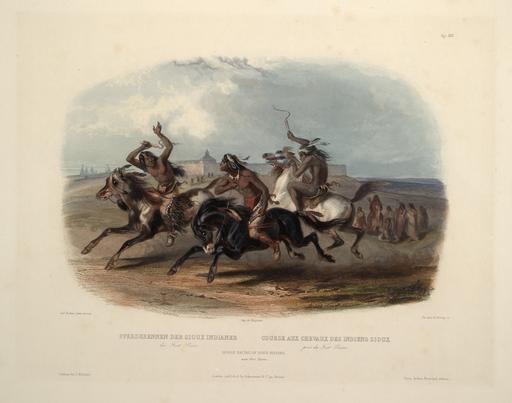 Course de sioux à cheval