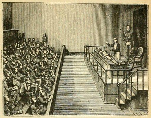 Cours à l'école de médecine au XIXème siècle