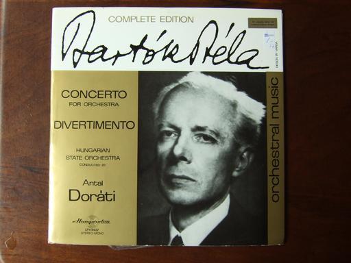 Couverture de disque de Bela Bartok