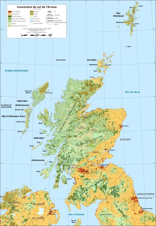 Couverture du sol en Écosse