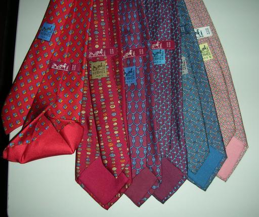 Cravates en soie de chez Hermès