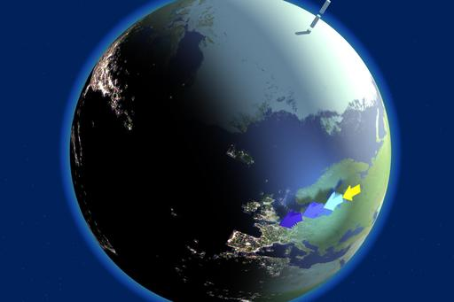 Crépuscule sur la Terre