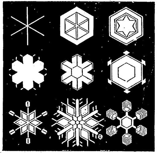 Cristaux de neige et de glace