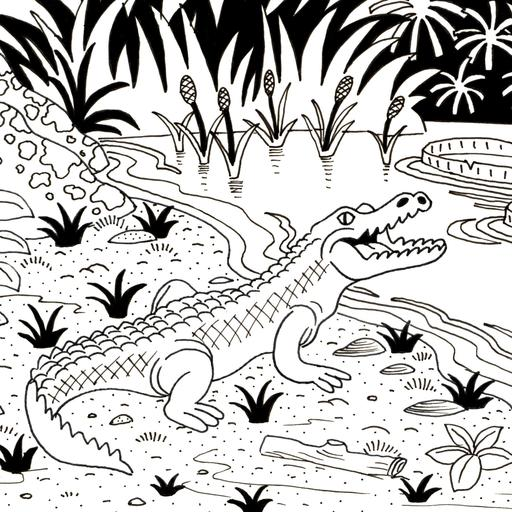 Ressources ducatives libres les - Dessiner un crocodile ...