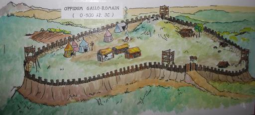Croquis d'oppidum gallo-romain