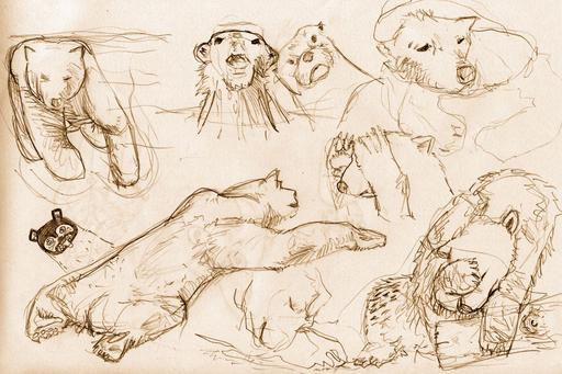 Croquis d'ours polaires