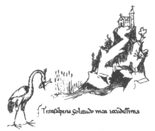 Croquis de la Fontaine-de-Vaucluse