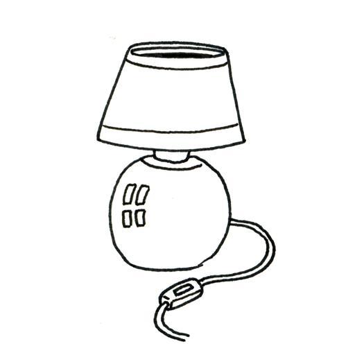 Croquis de lampe de chevet