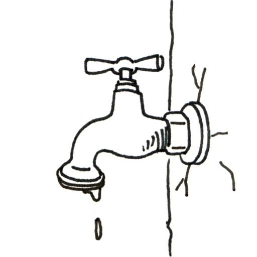 Croquis de robinet