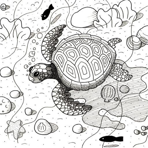Croquis de tortue marine