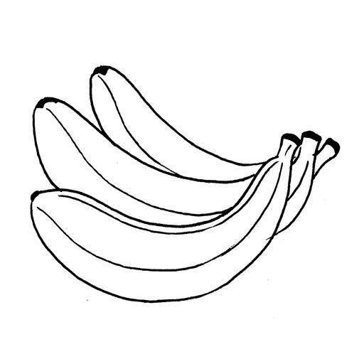 Croquis de trois bananes
