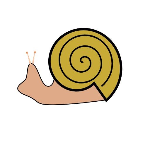 Croquis en couleurs d'un escargot