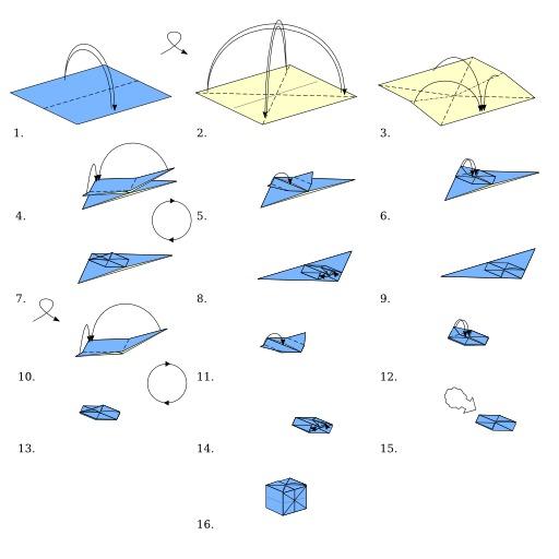Cube en origami