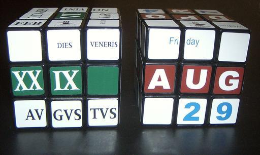Cubes de Rubik calendriers