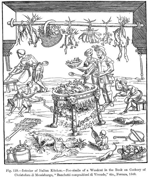 Cuisine italienne en 1549