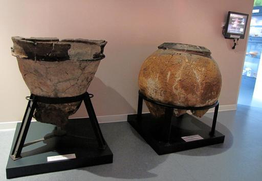 Jarre et cuvier en terre cuite landais de Sanguinet