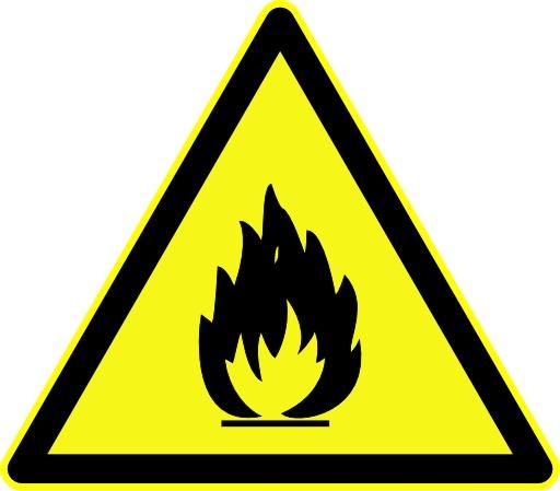 Danger de matières inflammables