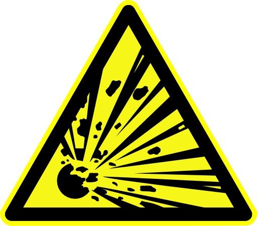 Danger de risque d'explosion