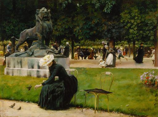 Dans le Jardin du Luxembourg en 1889