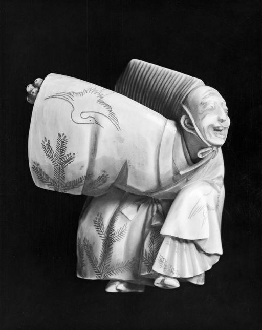 Danseur japonais en ivoire