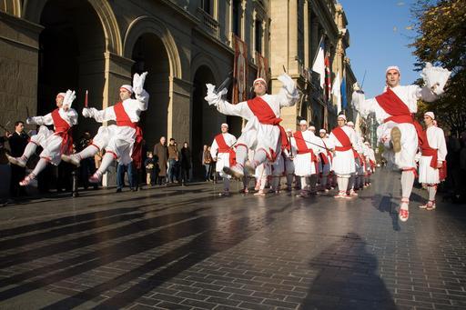 Danseurs basques à Saint Sébastien